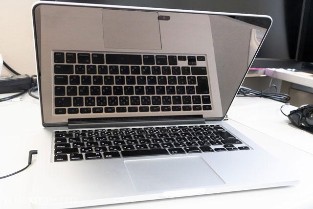 ピカピカになったMacBook Pro