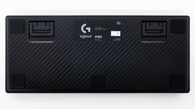 PRO G-PKB-001の裏面