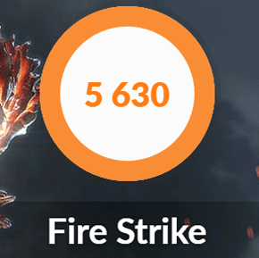 NEXTGEAR-NOTE i5330のFire Strike結果