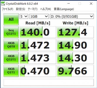 NEXTGEAR-NOTE i5330のHDD転送速度