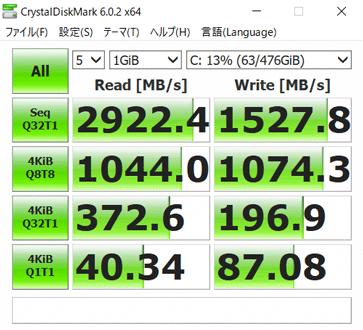 SSD1台目の転送速度