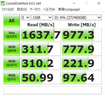 SSD2台目の転送速度