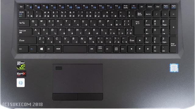 DAIV-NG7510S2-M2SH2のキーボード