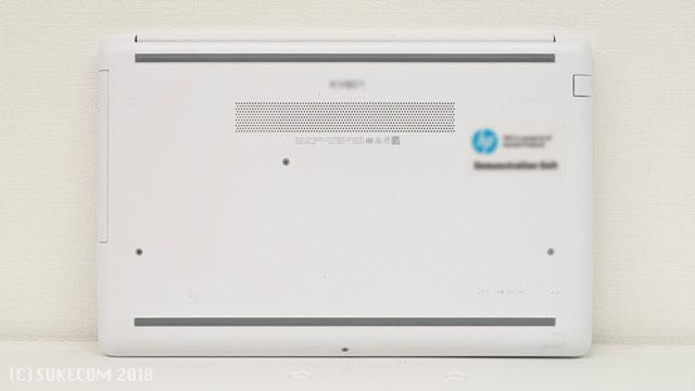 HP 15-db0000の裏面