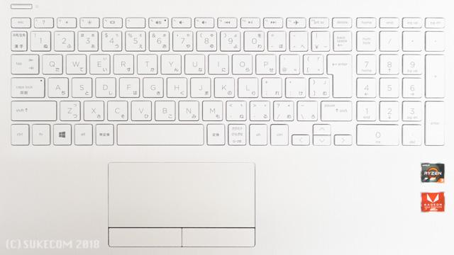 HP 15-db0000のキーボード