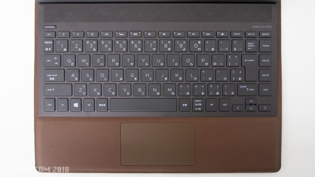 HP Spectre Folio 13のキーボード