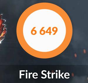 HP Spectre x360 15のFire Strike結果