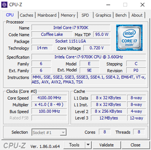 NEXTGEAR i690PA3-SPのCPU-Z結果