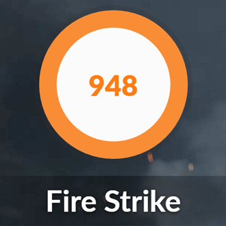 HP Pavilion x360 14のFIRE STRIKE結果