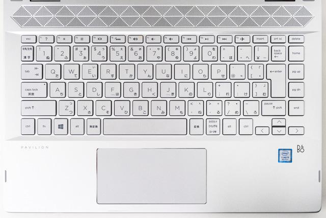 HP Pavilion x360 14のキーボード