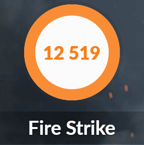 OMEN by HP 15のFIRE STRIKE結果