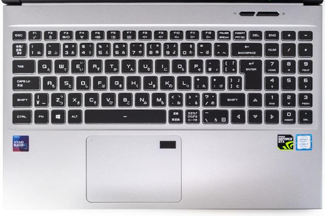 クリエイターノートのキーボード