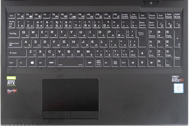 DAIV-NG5800のキーボード