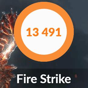 DAIV-NG5800のFIRE STRIKE結果