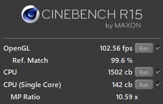 CPUのベンチマークスコア