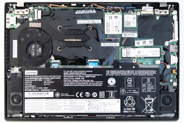 ThinkPad X280のケース内部
