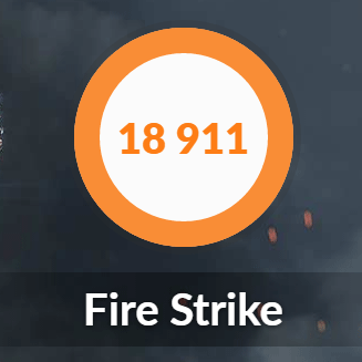 GALLERIA XFのFire Strike