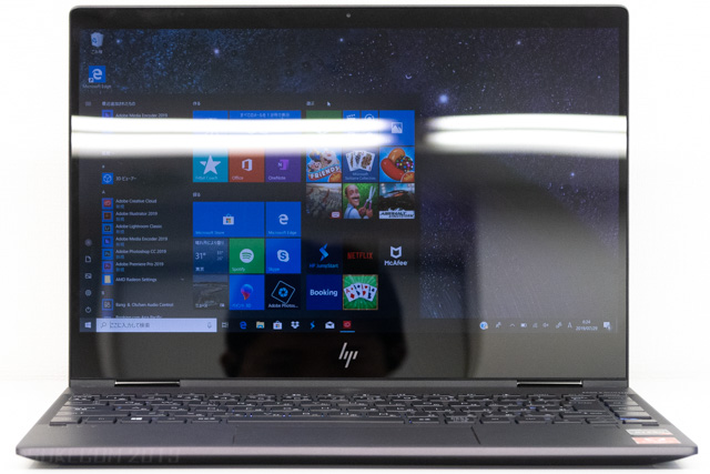 HP ENVY x360 13はグレア液晶